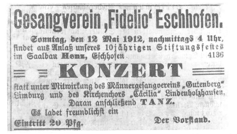 Konzertticket 1912